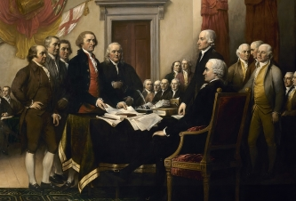 "A portion of ""Declaration of Independence,"" by John Trumbull, 1818"