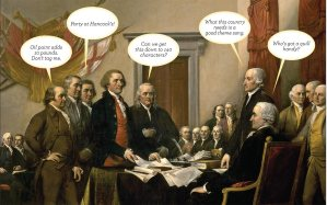 "John Trumbull's ""Declaration of Independence,"" from Parade Magazine, June 30, 2013"