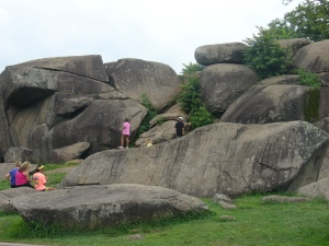 Young visitors to Devil's Den.
