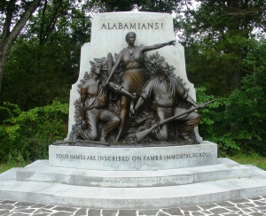 The Alabama State Memorial at Gettysburg