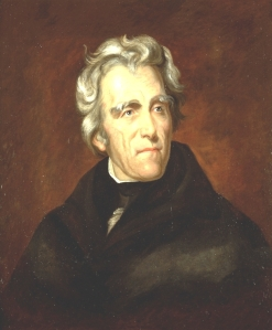 Andrew Jackson, in an 1824 portrait by artist Thomas Scully