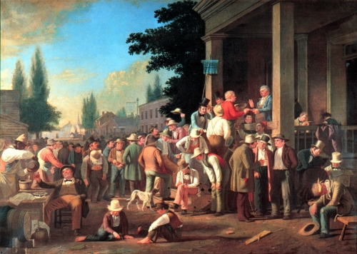 """County Election,"" by George Caleb Bingham, 1852"
