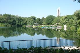 The Paddleboat Quarry in Naperville--not a bad place to read.
