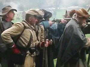 Confederate Infantry at the Battle of Wheaton, Illinois October 2014