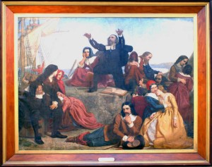 Charles Lucy, The Departure of the Pilgrim Fathers, 1847