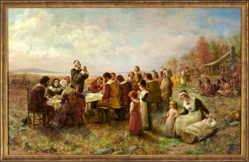 It is no coincidence that Jennie Brownscombe's famous painting of the First Thanksgiving dates from the 20th century, not earlier.