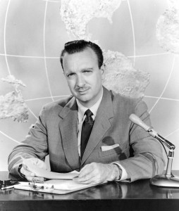 "Walter Cronkite, Host of ""You Are There"""