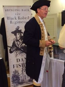 Fisher in the costume of a Revolutionary War Preacher