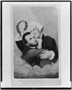 """Washington and Lincoln (Apotheosis),"" J. A. Arthur, 1865"