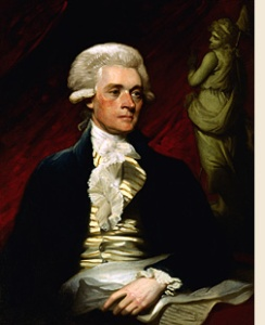 Thomas Jefferson, 1786, by artist Mather Brown
