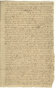Paul Revere's 1775 deposition concerning the events of April 18-19, 1775
