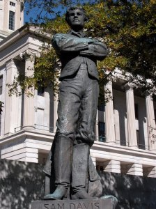 In 1909, the state of Tennessee erected this monument to Sam Davis on the grounds of the state capitol.