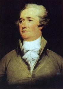 Alexander Hamilton sat for this portrait by John Trumbull in 1792.