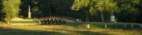 The North Bridge in Concord, MA, where minute men and British regulars battled on April 19, 1775