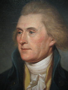 Jefferson sat for this portrait by Charles Willson Peale in 1791