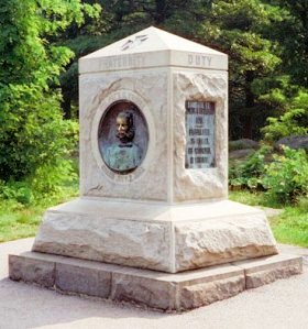 Monument to the 140th New York Infantry on Little Round Top