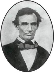 Republican Abraham Lincoln in 1858