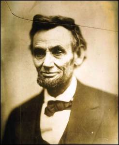 Lincoln sat for this photograph less than a month before his Second Inaugural Address.