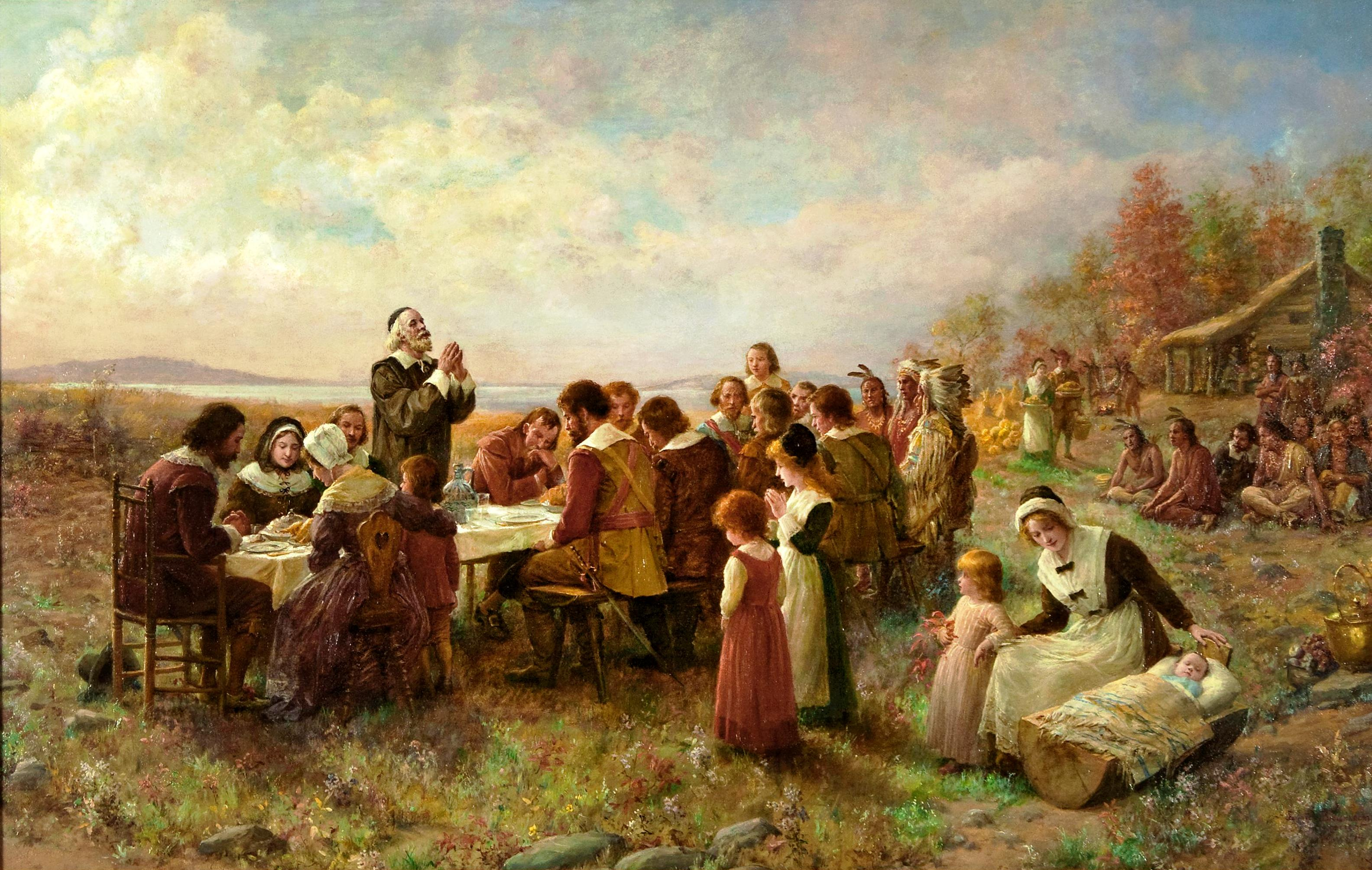 of plymouth plantation faith and history first thanksgiving at plymouth jeannie brownscombe