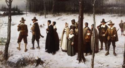 """Pilgrims Going to Church,"" George H. Boughton, 1867"