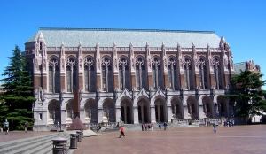 "The University of Washington's ""Cathedral of Learning,"" Suzallo Library. I had a private study on the library's fifth floor."