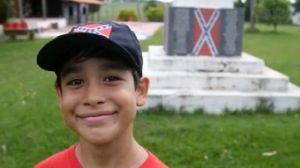 "The Confederate battle flag is a ""symbol of love"" to this nine-year-old Brazilian."