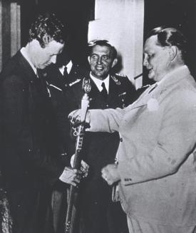 Lindbergh with German Air Minister Hermann Goering, October 1938