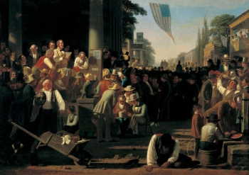 "George Caleb Bingham, ""The Verdict of the People,"" 1854-55"