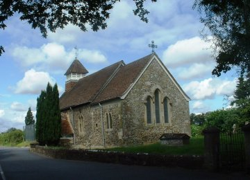 St. Andrew's Church in Bemerton, Wiltshire, where George Herbert served as rector.