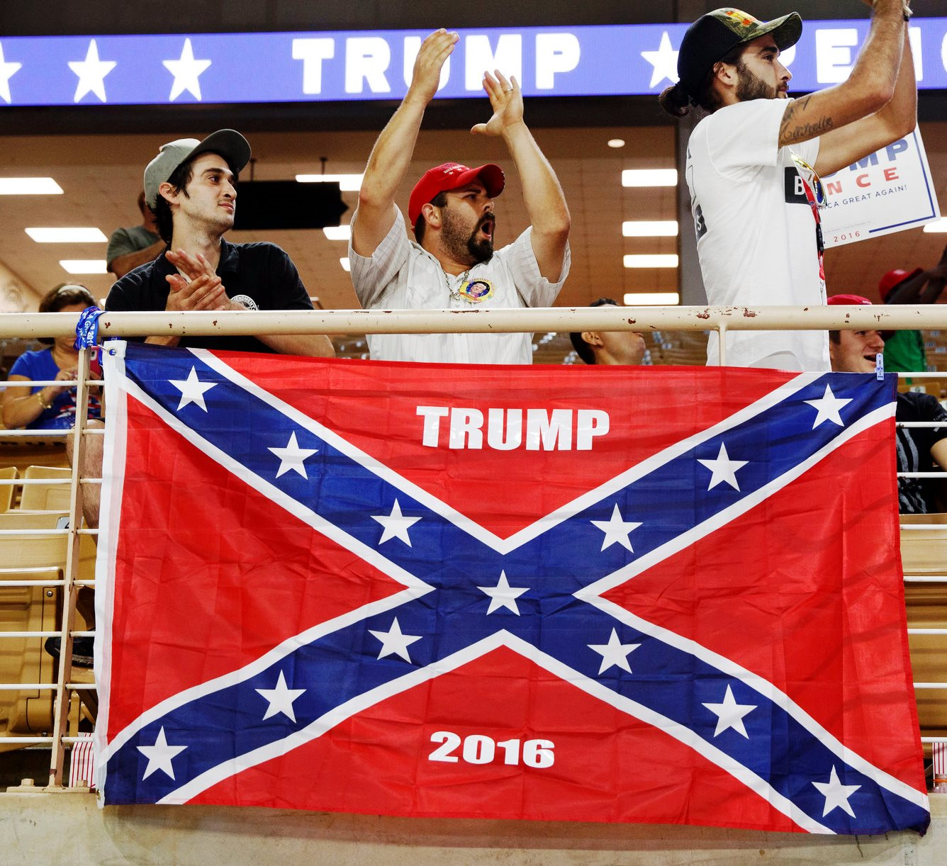 Image result for trump embracing confederate flag